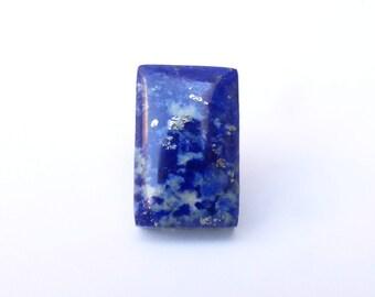 Lapis Lazuli with Pyrite Cabochon 16mm x 10mm, 14.6 ct., Rectangular, Afghanistan, LLC001