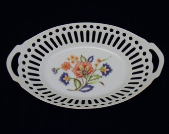 Winrose Collection Porcelain Oval Basket