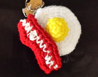 Breakfast-To-Go Egg and Bacon Key Chain