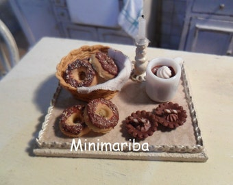 Miniature dollhouse donuts and sweets 1/12 scale