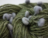 "Handspun Art Yarn, BFL, Merino, BFL, Silk - ""Sea Pearls"" 89m, 57g, Aran 8wpi"