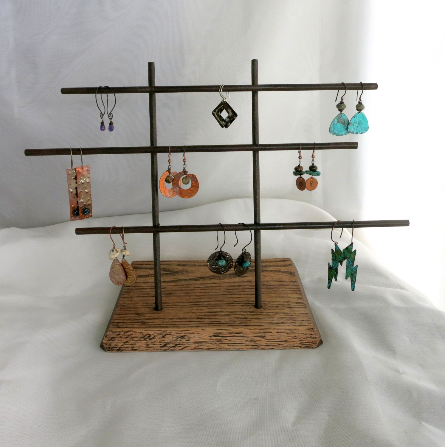 Metal earring display stand craft show jewelry display ready for Free craft show listings