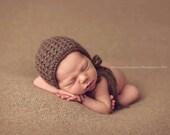 PDF Knitting Pattern - newborn photography prop luxury weaving dreams bonnet #87