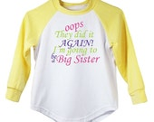 Oops They Did It Again - Big Sister - T-Shirt - Yellow