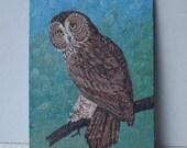 Original Acrylic Owl Painting