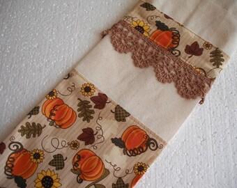 Pumpkin Fall Inspired Plastic Bag Holder. Ready to ship. Grocery Bag Holder. Kitchen Bag Storage