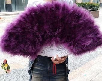80*45cm Large   Burlesque Dance  feather fan Bridal Bouquet Purple Hot Pink Turquoise White  Green