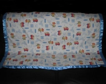 Fire Fighting Little Cheif Baby Cotton/Fleece Blanket 22x22 Personal