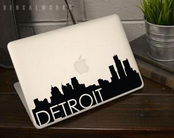 Detroit Skyline Macbook Decal 3 | Macbook Sticker | Laptop Decal | Laptop Sticker | Car Sticker