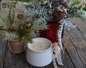 Hazelnut Coffee / All Natural Soy Wax Candle / Vintage Crock, Mug / Holiday Christmas Winter Scent / Hand poured, handmade