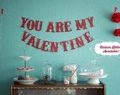 Valentine's Banner Glitter Banner Valentine's Day Banner Valentine Banner Love Banner Be Mine Banner Valentines Letter Banner Glitter Banner
