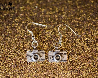 Camera Charm Earrings