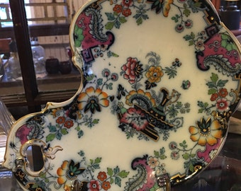 Antique Ironstone decorated Tray