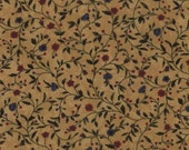 on SALE thru 8/1 moda fabric by 1/2 yard Kansas Troubles Quilters FAVORITES II- flower sprigs on mushroom tan  9410-11