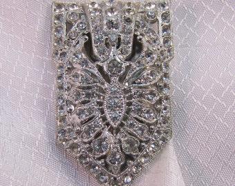 Vintage c1920's Rhinstone Fur Clip