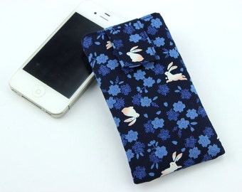 Bunny Rabbits, iPhone Case, Handmade Padded Fabric iPhone Case, Xperia A4 Case, Galaxy S5, iPhone Wallet, iPhone 6, iPhone 6S Plus