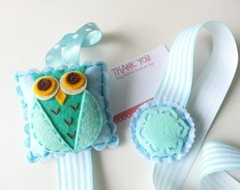 Felt Owl Hair Clip Holder