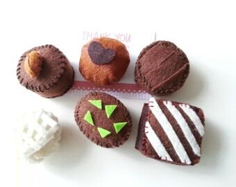 Yummy Felt Chocolate Set C - 6 Chocolate