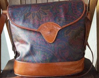 PAISLEY     ///    Canvas Leather Satchel