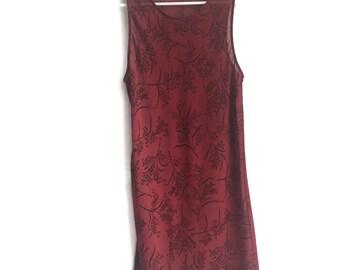 Vintage 90s Sheer Floral Slip Dress