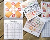 HALF PRICE - Cheese Calendar - Becka Griffin Illustration 2016 Edible Kaleidoscope Calendar - Seasonal Cheese - gift for cheese lover