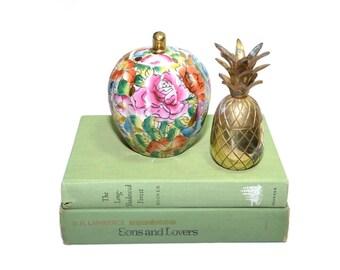 Mini Brass Pineapple Box Small Pineapple Box Mini Brass Pineapple Mini Ananas Mini Pina Petit Ananas Box