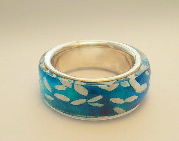 ON  Sale . Turquoise Rice- SILVER  RING.