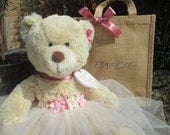 Flower Girl/Junior Bridesmaid Teddy Bear, Wedding Teddy Bear, Personalized Teddy Bear, Custom Teddy Bear, Flower Girl Gift,