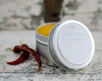 Sore Muscle Rub {Herbal Warming Balm}
