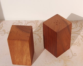 Acacia Wood Salt and Pepper Shakers Book of Exodus Ark of the Covenant