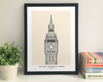 Big Ben (Elizabeth Tower, Houses of Parliament) giclee print