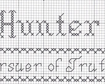 Custom Designed Cross Stitch - Hunter  with Bible Meaning .pdf