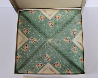 Vintage Paper Luncheon Napkins In Original Packaging - Made In Germany