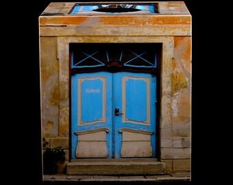 Tissue Box Cover Blue Doors in Tallinn