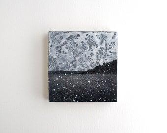 Snowfall Landscape Painting - 4 x 4