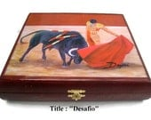 "New Humidor Cigar box ""Robusto"" with beautiful Art woks  . Buy 1 Get Second 30% Off. Free Shipping"