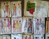 Sewing Patterns - Grab Bag of 23 Patterns from 1960s + 1970s