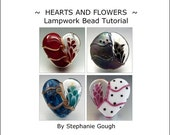 50% SALE HEARTS AND Flowers - Lampwork Bead Tutorial by Stephanie Gough sra fhfteam leteam lampwork tutorial