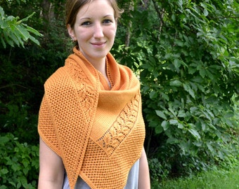Shawl Knitting PATTERN PDF, Knitted Shawl Pattern,  Fall Shawl - Heirloom Cultivar Shawl