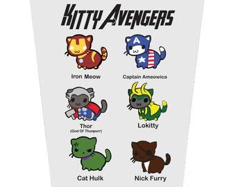 Kitty Avengers Birthday Card