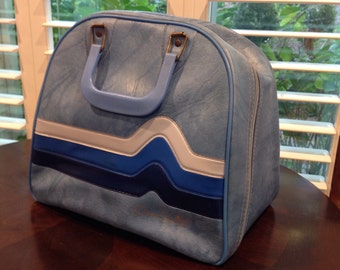Blue and white Bowling Ball Bag brunswick don carter