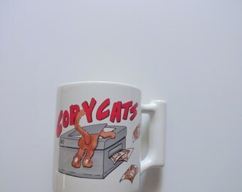 Vintage Copy Cat Ceramic Coffee Mug 1980s