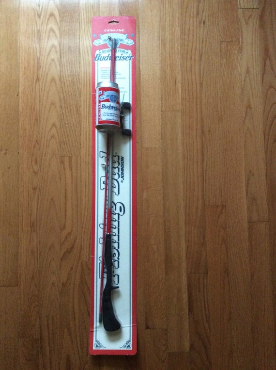Rare Johnson Budweiser Fishing Rod And Reel Still In Package