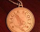 Ornament- Eagle Scout - Laser Engraved
