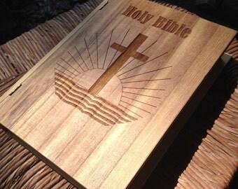 Bible Case Laser Engraved Wood Box