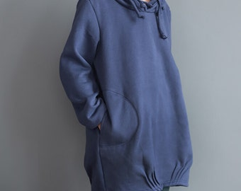 spring hood loose long sleeved Coat