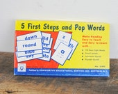 Vintage Flashcards Sight Words - Vowel Sounds - Consonant Sounds 1960 5 First Steps and Pop Words by Kenworthy Educational Service