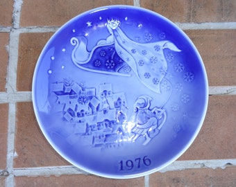vintage copenhagen plate 1976 christmas Denmark Svend Jenson Holiday Collectible