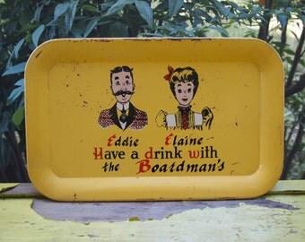 Tin Tray, Family Tray, Tin, Vintage Tin Tray, The Boardman's, Decorative Tray, Home Decor, Kitchen Decor, Vintage Decor