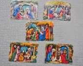 Antique 1930's German Christmas die cut,scrap paper,ephemera.